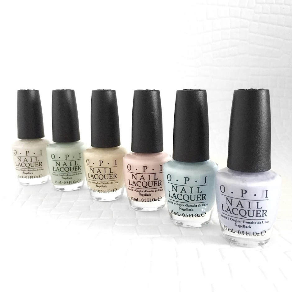 Spring nails! New OPI Soft Shades pastels. - Chapter Fifty Spring ...
