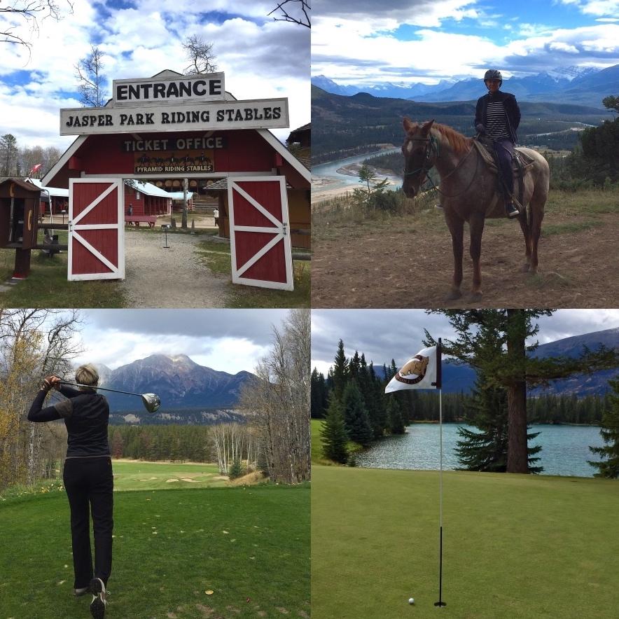Jasper Park Golf Riding Stables Alberta Rocky Mountains