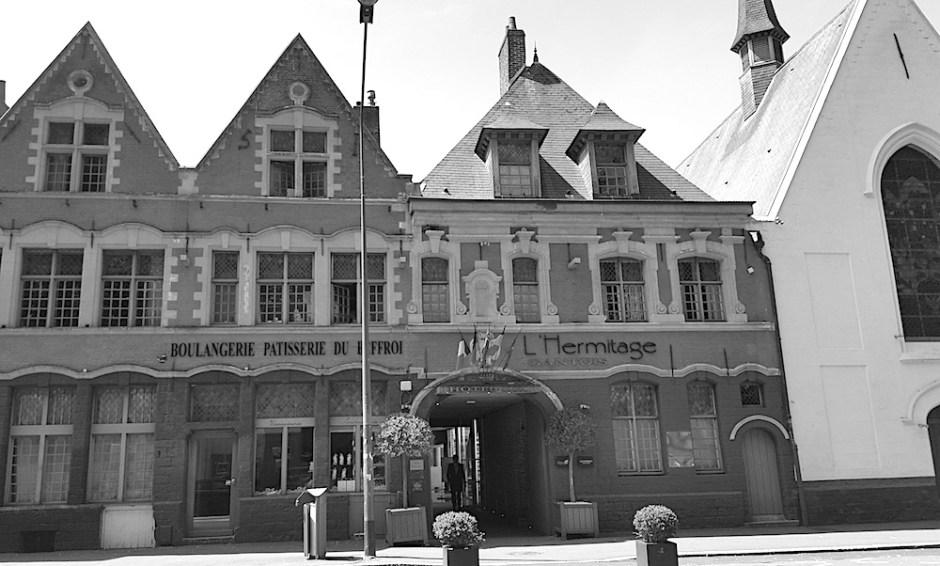 Facade hotel l hermitage Lille