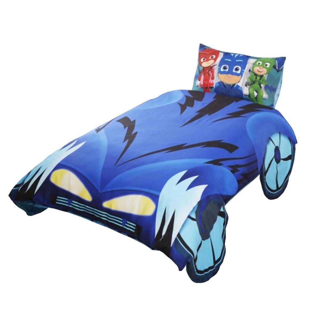 pj masks catboy shaped single duvet cover bed set