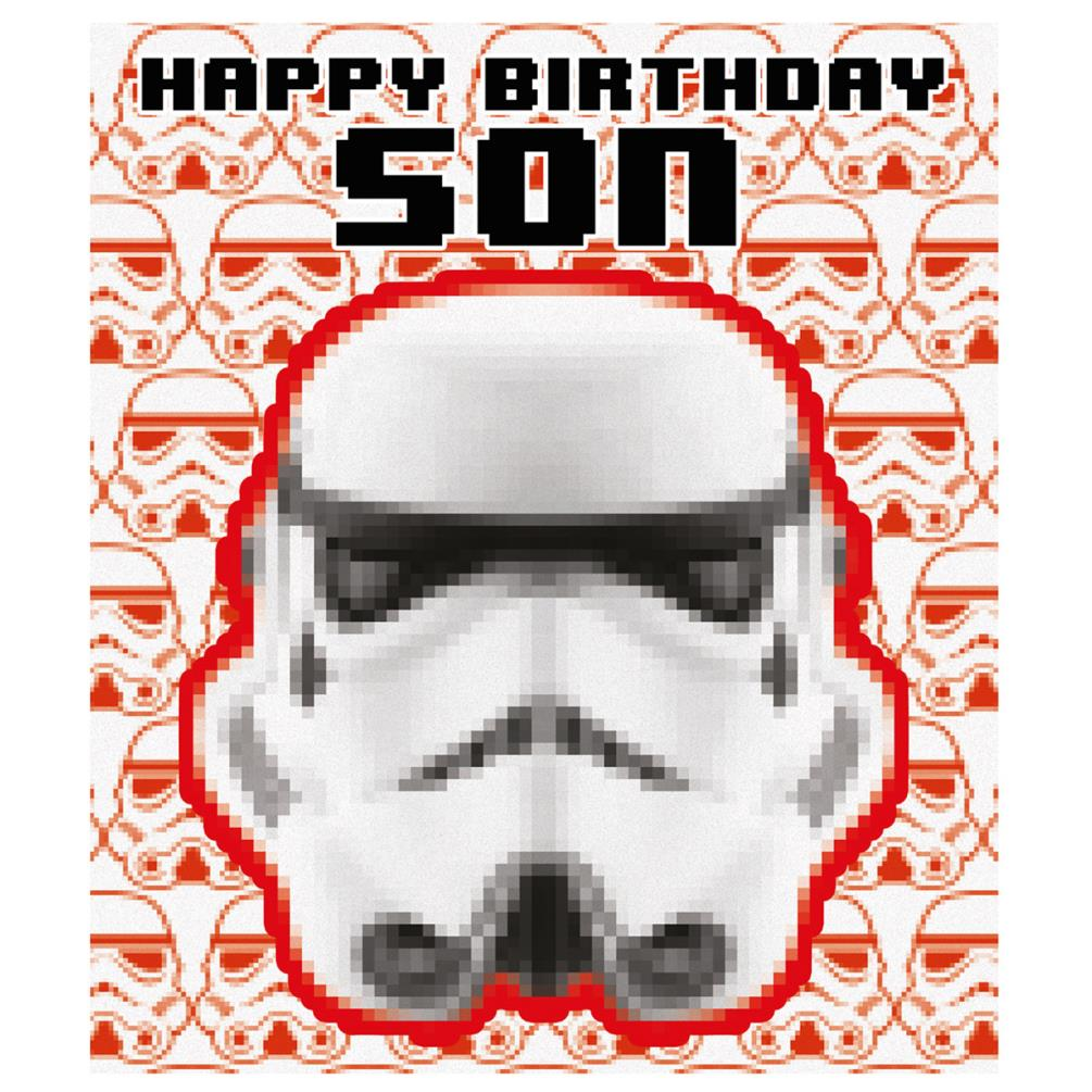 Son Storm Trooper Star Wars Birthday Card 245554 Character Brands