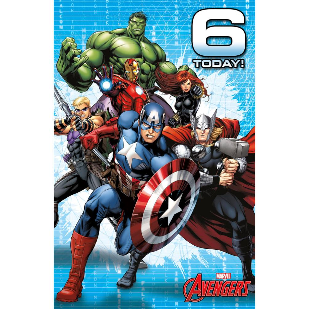 6 Today Marvel Avengers Birthday Card 487214 0 1
