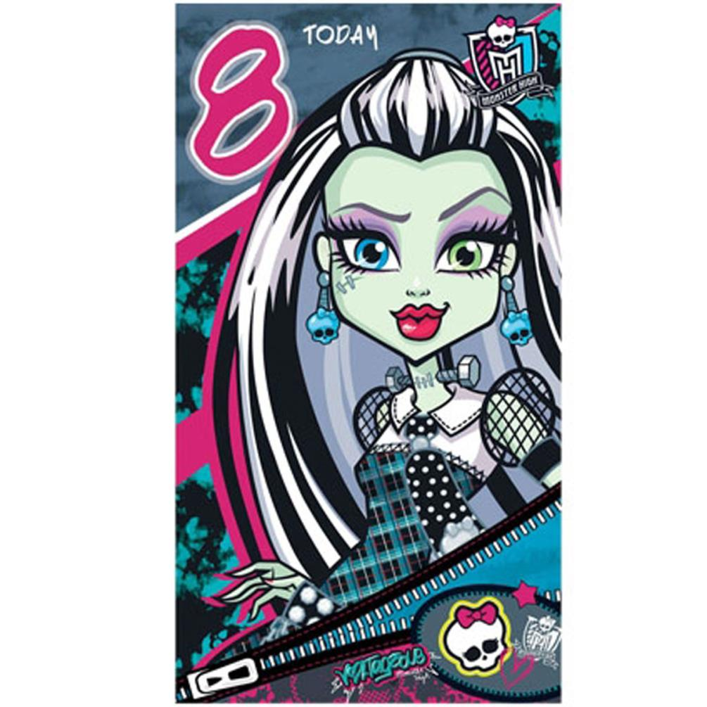Monster High 8 Today 8th Birthday Card Mh003 Character Brands