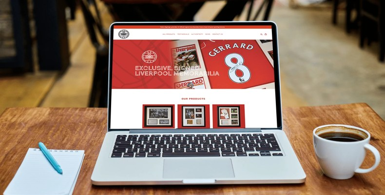 Retro Signings Website Design Liverpool