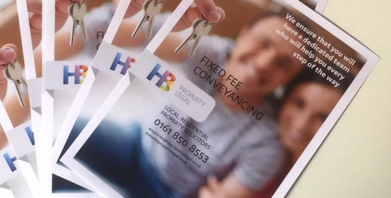 Hb Property Legal digitally printed leaflets by Character Creates