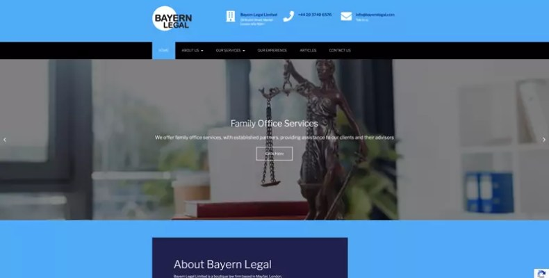 Bayer Legal Website Design by Character Creates