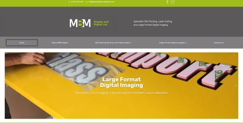 MBM Display and Digital Website Design by Character Creates
