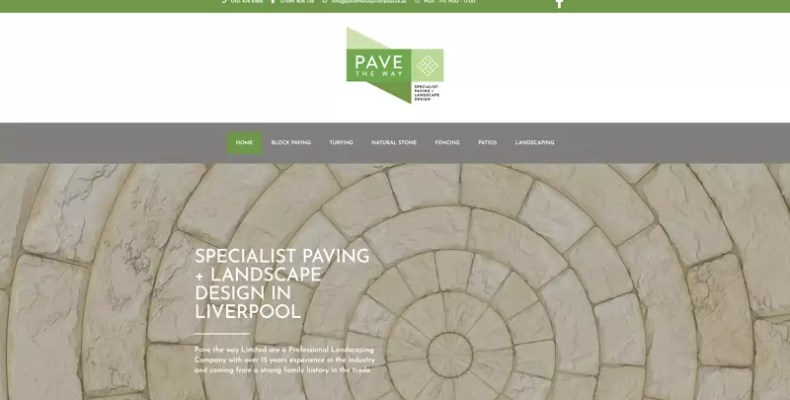 Pave the Way Liverpool Website Design by Character Creates