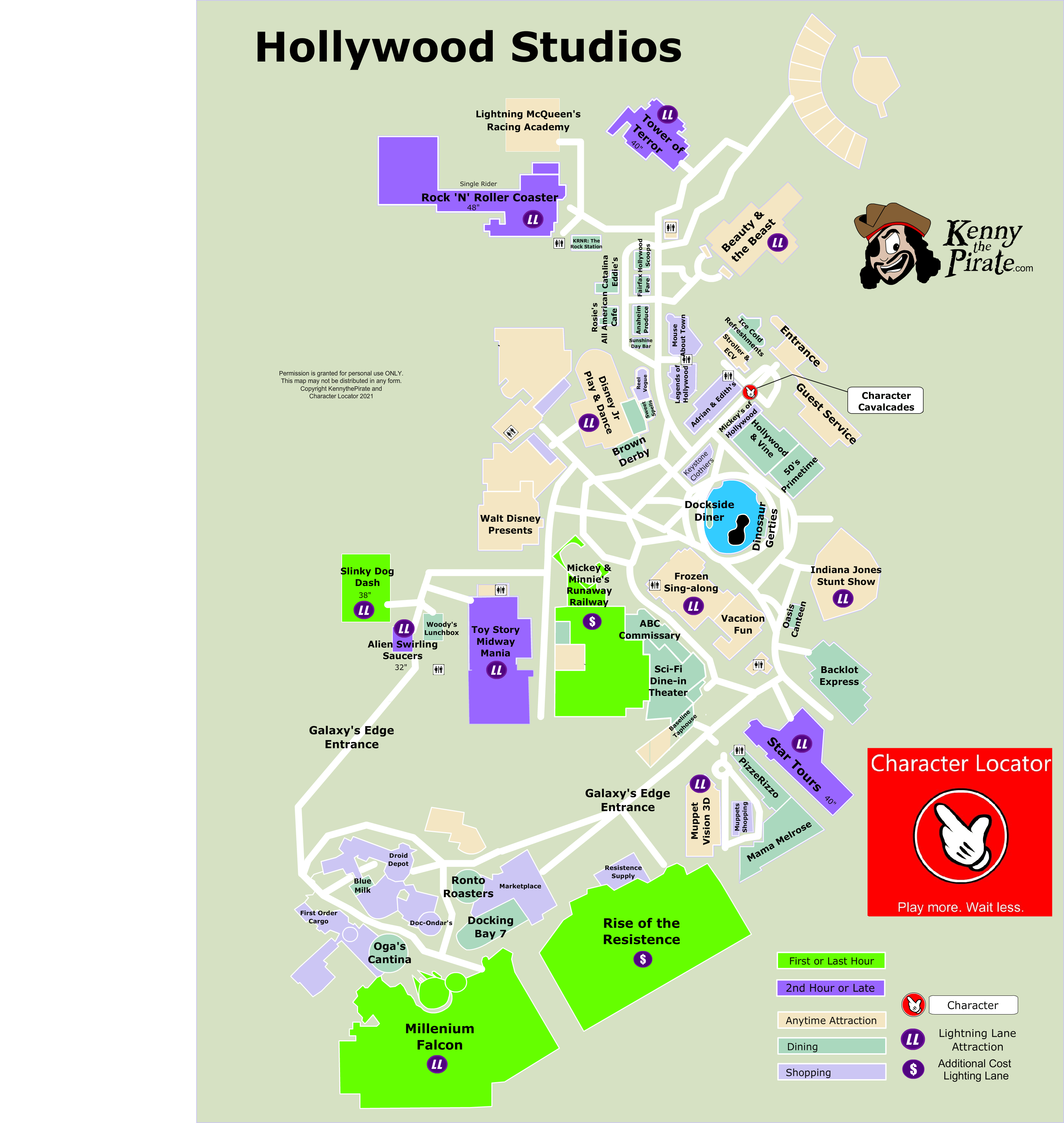 Disney Hollywood Studios Map Archives - KennythePirate.com