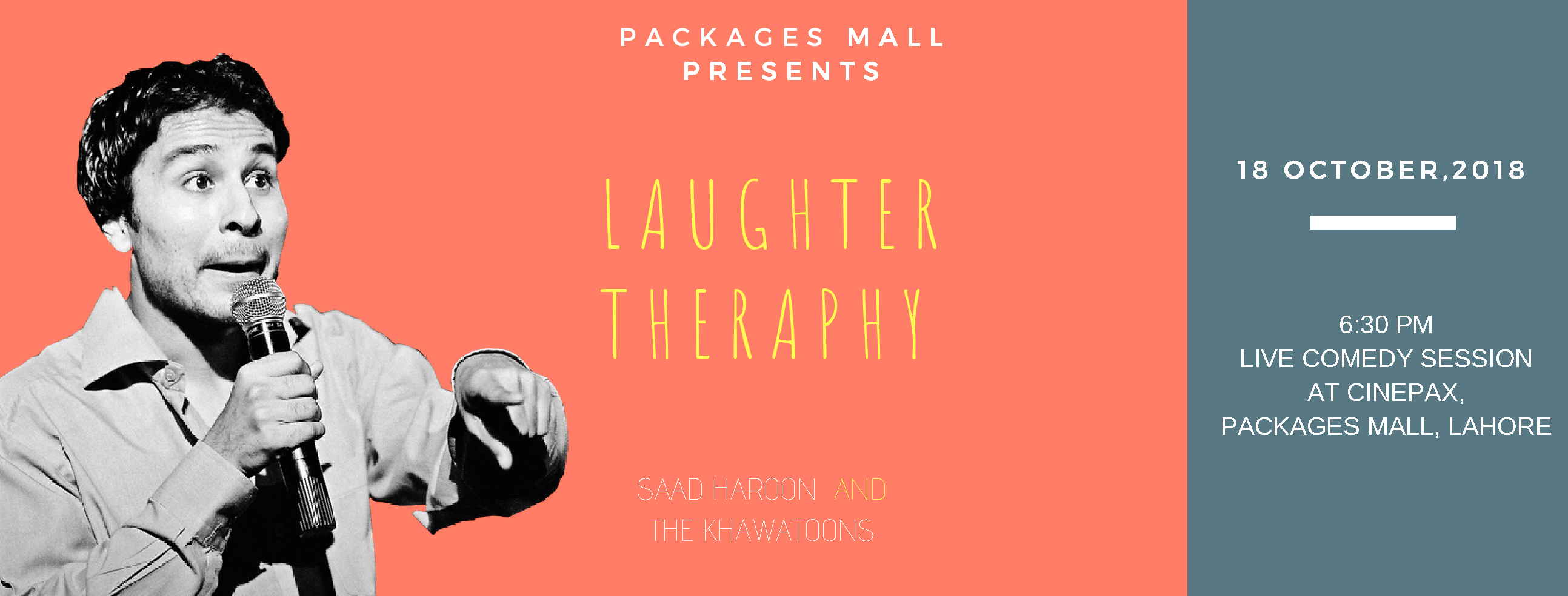 Saad Haroon Poster - Laughter Therapy: Stand Up Comedy Night at Packages Mall