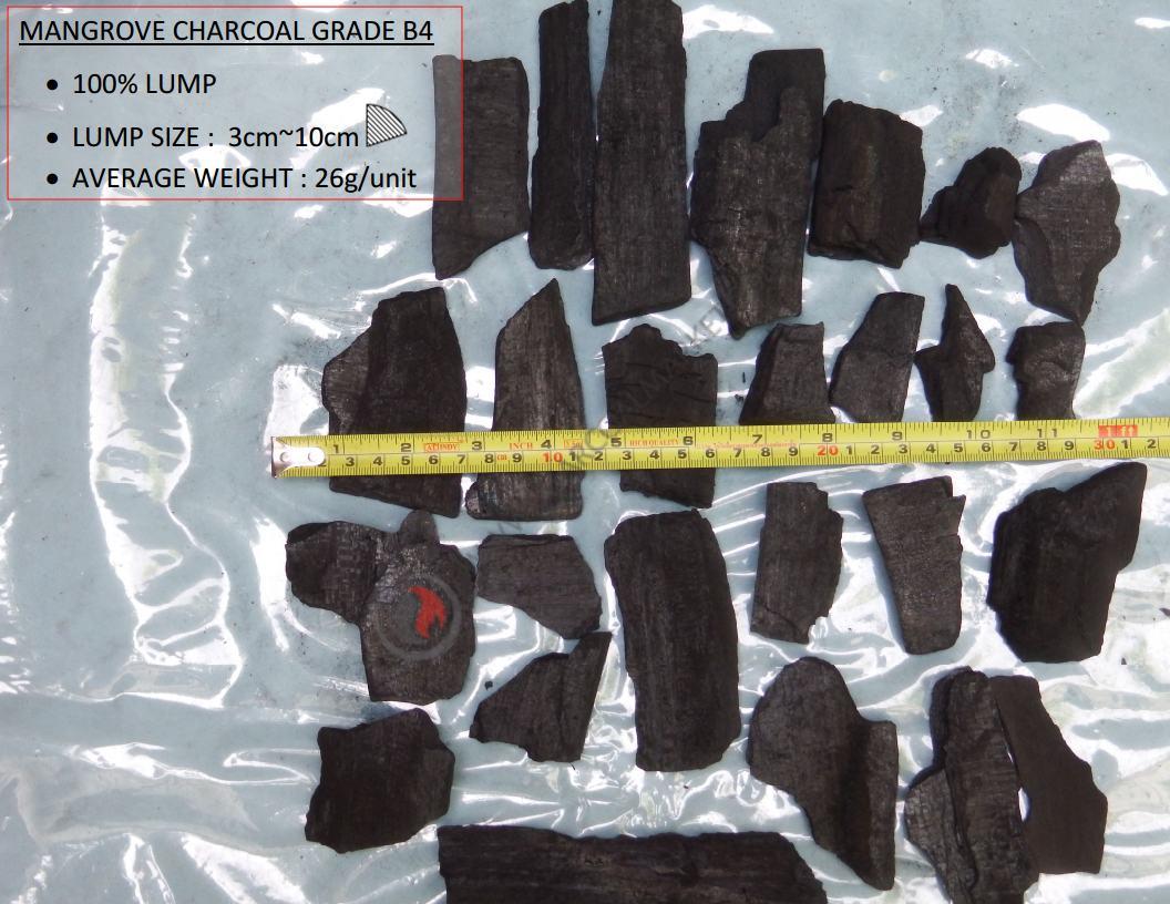 Mangrove Charcoal Suppliers B4 Grade