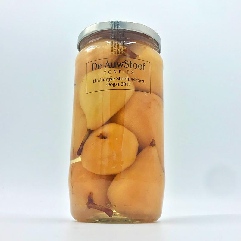 Condimenten tafelganituren tafelzuur Auwstoof Limburgse Stoofpeertjes