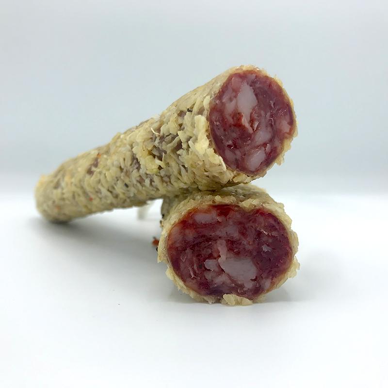 Fuet Cebolla spaanse droge worst met een mantel van gedroogde uien online bestellen