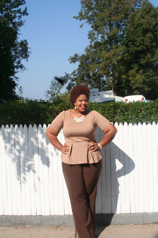 Top: Forever 21 Pants: Ashley Stewart Shoes: Just Fab Accessories: Fly Girl Couture