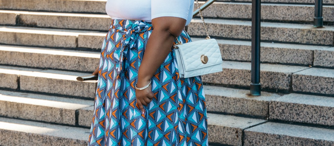 Plus Size Blogger wearing Eloquii