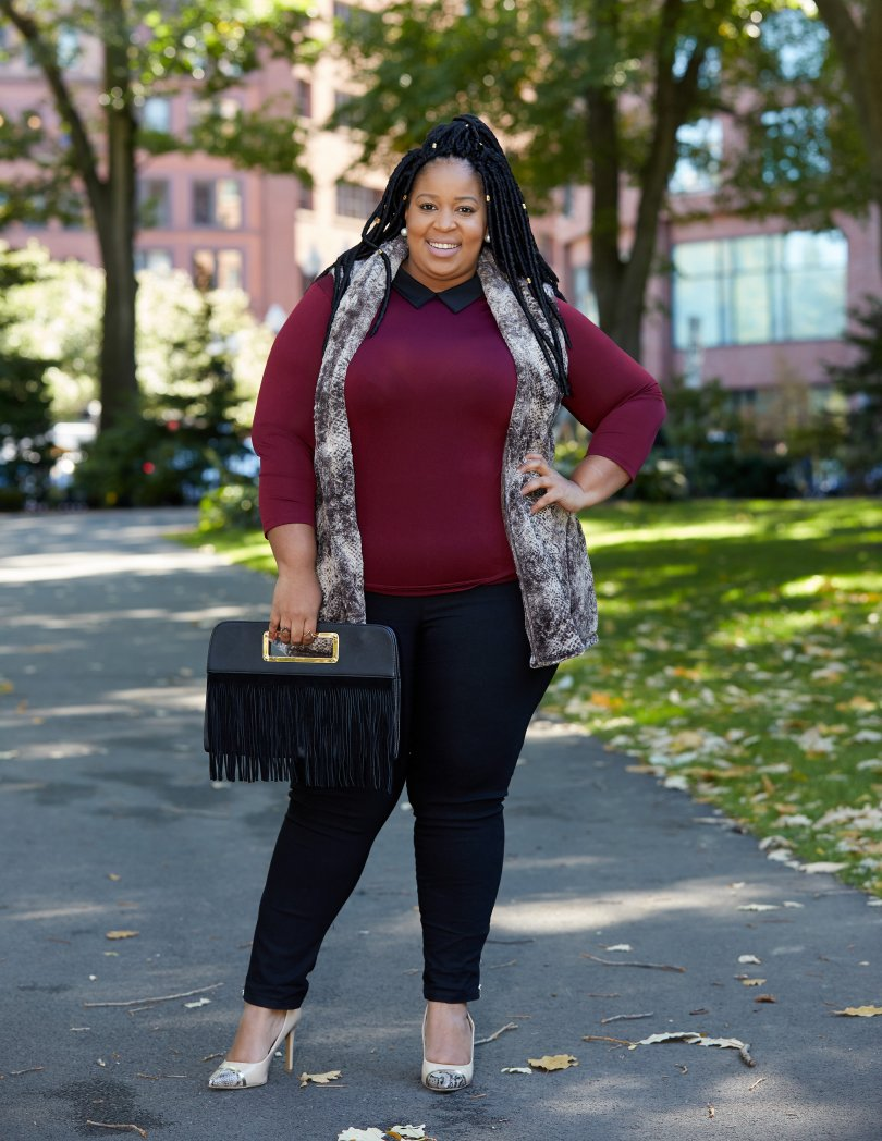 The Aspen Fur Vest from On The Plus Size