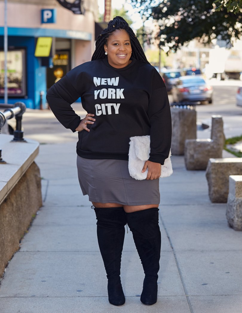 Plus Size Blogger wearing Simply Be USA