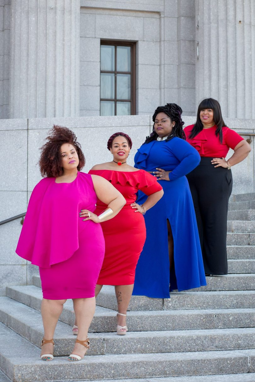 plus size bloggers wearing christian o'meshun