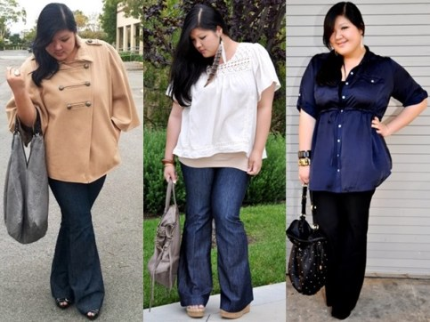 Plus-Size-Inspiration-with-flare-pants