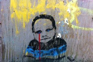 Stencil Crying Boy Lego Carroll Gardens