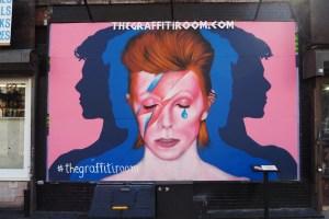 David Bowie mural at The Graffiti Room