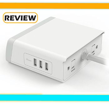 EasyAcc Surge Protector with 3 USB Ports