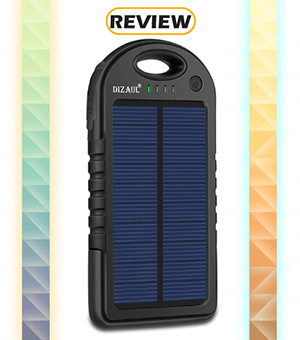 Dizaul 5,000mAh Solar Power Bank