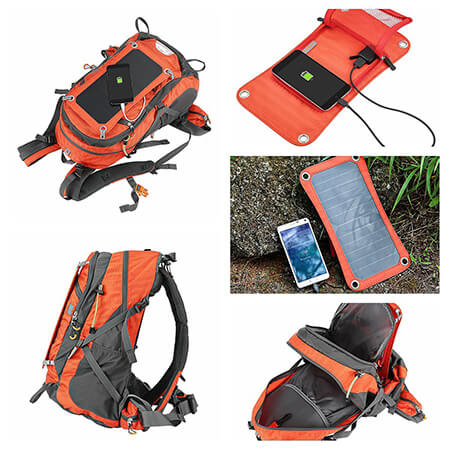 Review Eceen 7w Solar Powered Camping Backpack Charger