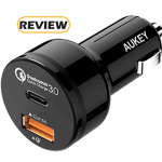 Aukey 2-Port USB-C Car Charger with Quick Charge 3.0 Review