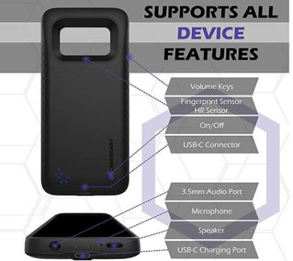 100% authentic 2fab4 30108 Review: CASESSARY Galaxy S8 4,500mAh Battery Case