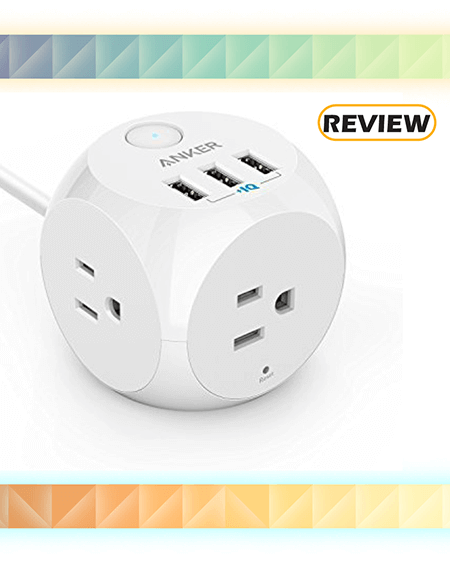 Anker PowerPort Cube Power Strip 3 with 3 USB Ports with Switch Control Review