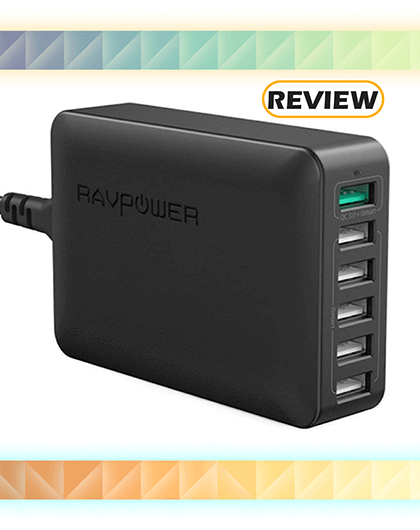 RAVPower 6-Port Desktop Wall Charger with Quick Charge 3.0 Review