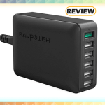 RAVPower 6-Port Desktop Wall Charger with Quick Charge