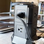 iClever 8 AC Outlet 4 USB Port Power Strip