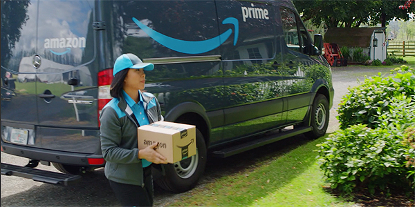 Amazon's delivery vans will all be electric by 2035 under Governor Newsom's order.