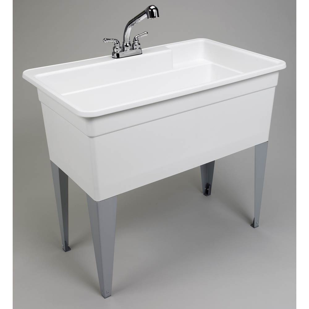 bigtub utilatub combo tub faucet supply lines p trap