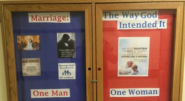 Providence College student and resident assistant Michael Smalanskas became the subject of vicious criticism and harassment after he adorned a bulletin board in his dorm hall with messages and photos promoting the biblical definition of marriage.