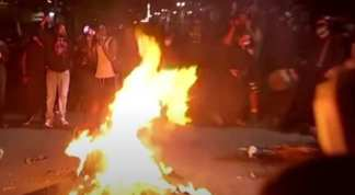 Protesters Burn Bibles, American Flag Infront of Federal C as Portland Tensions Escalate
