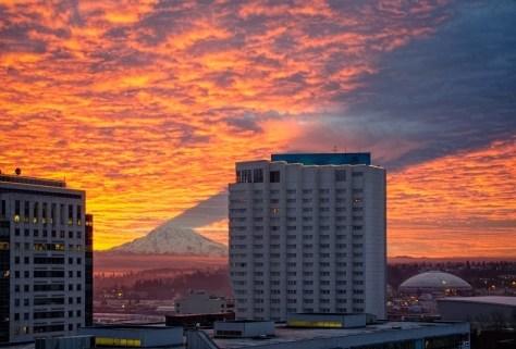 Amazing Shadow of Mount Rainier 2