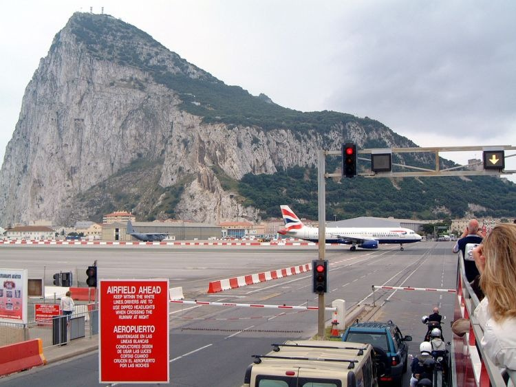 Gibraltar Strange Airport, Where Runway Intersecting a Road 10