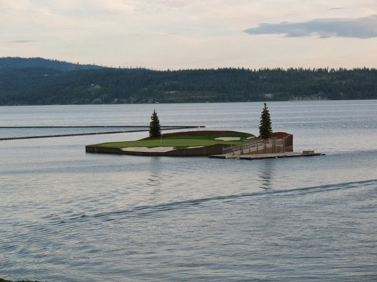 Floating Golf Course at Luxury Coeur d'Alene Resort 3