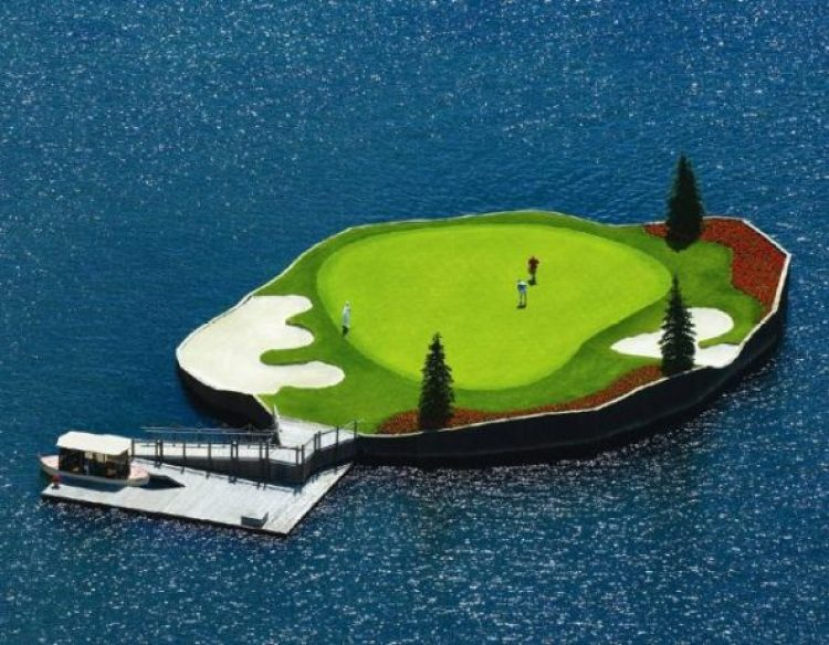 Floating Golf Course at Luxury Coeur d'Alene Resort 7