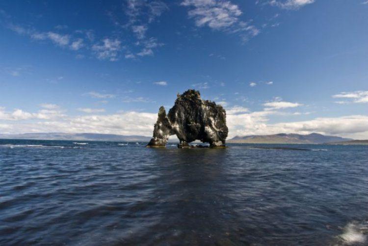 Mysterious Hvitserkur Shaped Rock in the Gulf of Hunafloui 7