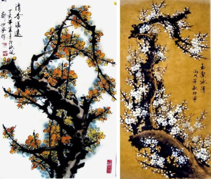 Gorgeous Watercolors Merge Nature with Chinese Calligraphy12