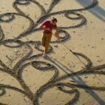 Unbelieveable Sand Drawings by Andres Amador