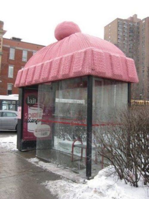 Cozy bus stop