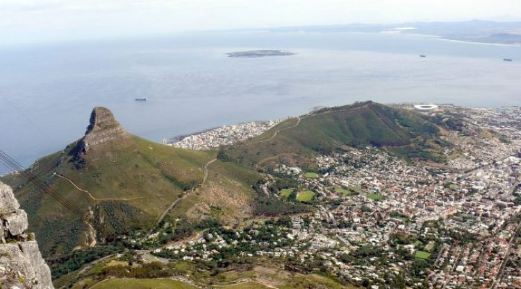 Lion's Head and Signal Hill from the Summit of Table Mountain
