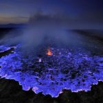 Amazing Electric-Blue Flames Erupt From Volcanoes