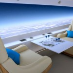 Supersonic Jet replaces windows with a huge real-time video screens