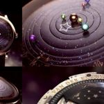 Astronomical Watch Displays Our Solar System Orbiting the Sun